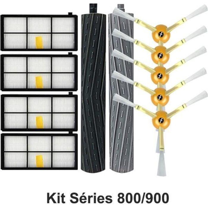 Kit Accessoires pour iRobot Roomba Séries 800/900 avec Filtres Brosses et Rouleaux