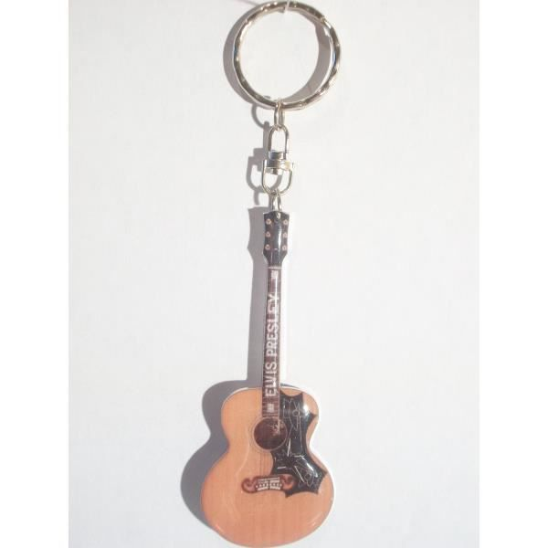 PORTE-CLÉS Porte-clefs en métal forme guitare Gibson d'Elvis