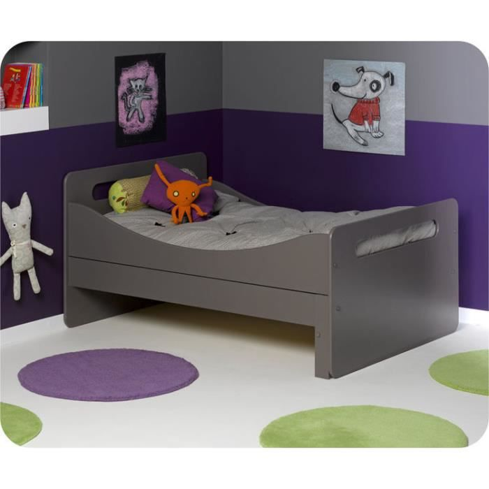 eb lit enfant volutif eden taupe achat vente lit evolutif cdiscount. Black Bedroom Furniture Sets. Home Design Ideas