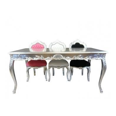 table baroque argent e achat vente table a manger. Black Bedroom Furniture Sets. Home Design Ideas