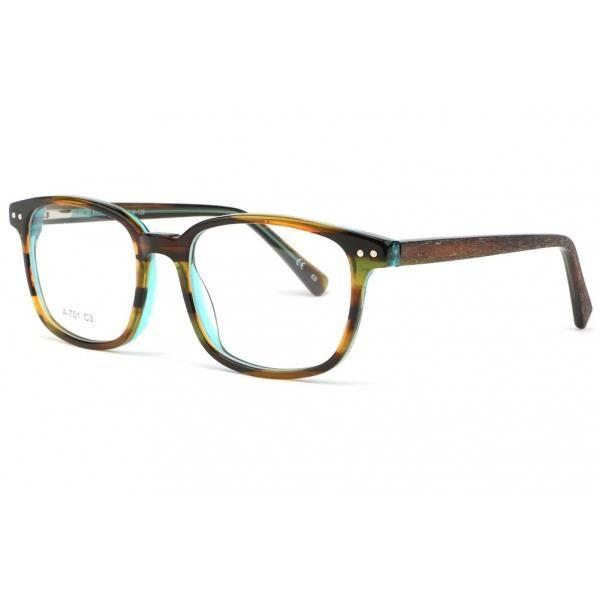 Monture lunette enfant bleu et marron 7 à