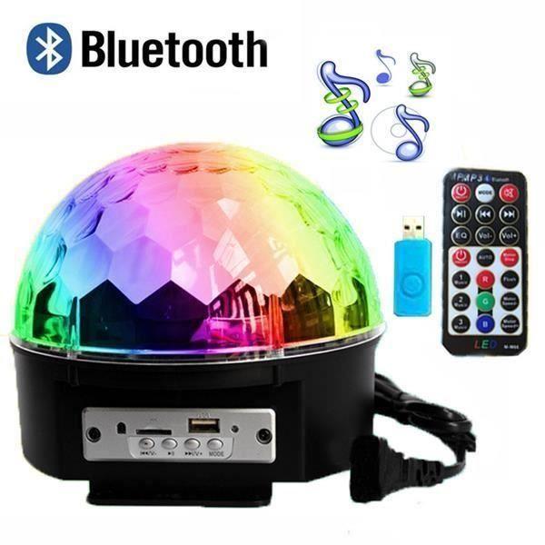 Eu 12w Bluetooth Musique Lampe De Scène Jeux De Lumière Boule Soirée Disco Dj Contrôle Sonore 9 Couleurs 120 Télécommande Ve03884 Lampe Et Spot De Scène Avis Et Prix Pas Cher Cdiscount