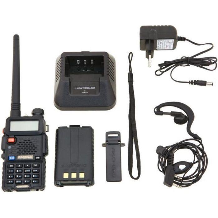 TALKIE-WALKIE Baofeng UV-5R Talkie-walkie FM radio VHF/UHF avec