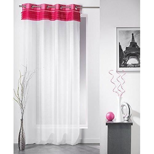 douceur d 39 interieur 1623346 bimba voile sable panneau avec oeillets polyester imprim fuchsia. Black Bedroom Furniture Sets. Home Design Ideas