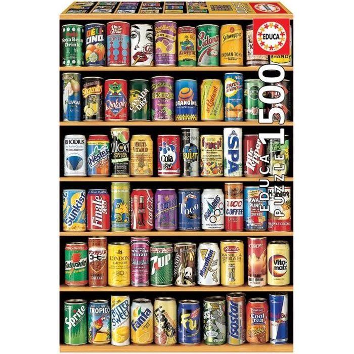 PUZZLE EDUCA Puzzle 1500 Pièces - Cannettes