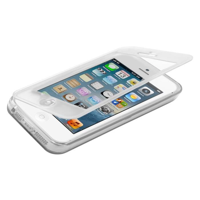 Coque gel rabat pour iphone 5 5s transparente achat for Housse iphone 5 c