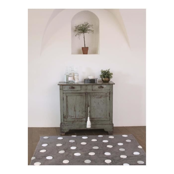 tapis rectangulaire en coton gris enfant topos lorena canals 120x160cm gris achat vente. Black Bedroom Furniture Sets. Home Design Ideas