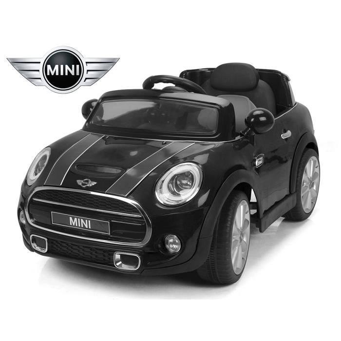 petit 4x4 lectrique mini cooper s noir voiture enfant 12v. Black Bedroom Furniture Sets. Home Design Ideas
