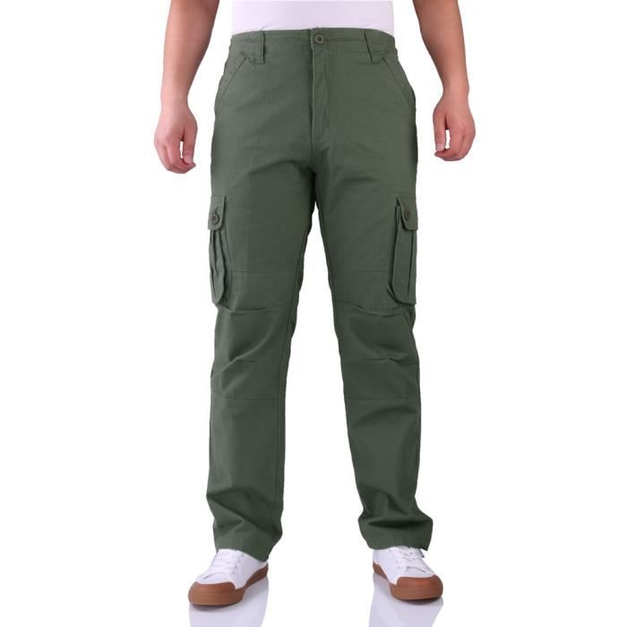Homme Type Cargo Militaire Multi Unie Style Poches Couleur Pantalon Straight MzqUVpSG