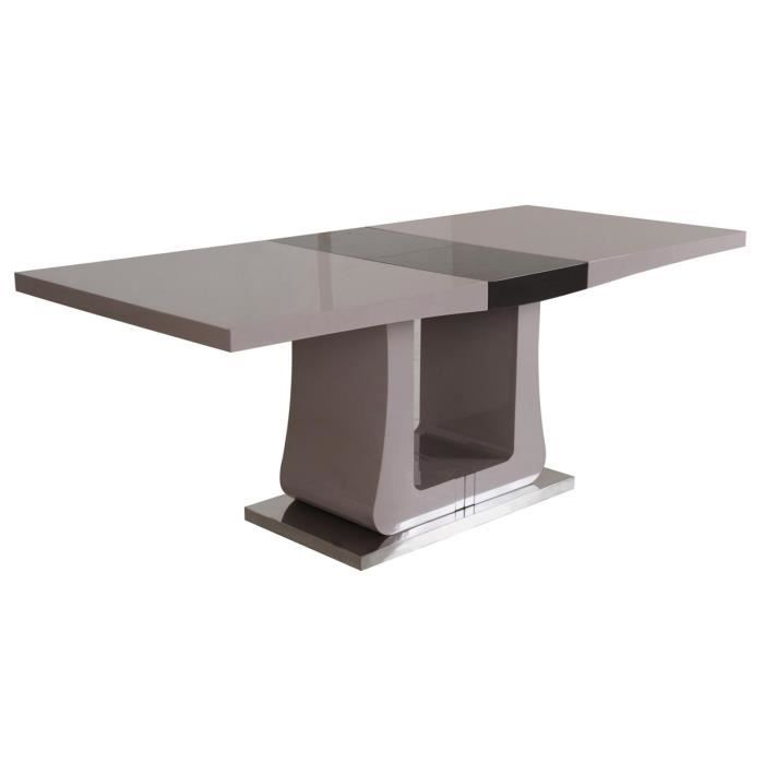 Table extensible taupe chocolat sandro achat vente for Table de sejour extensible