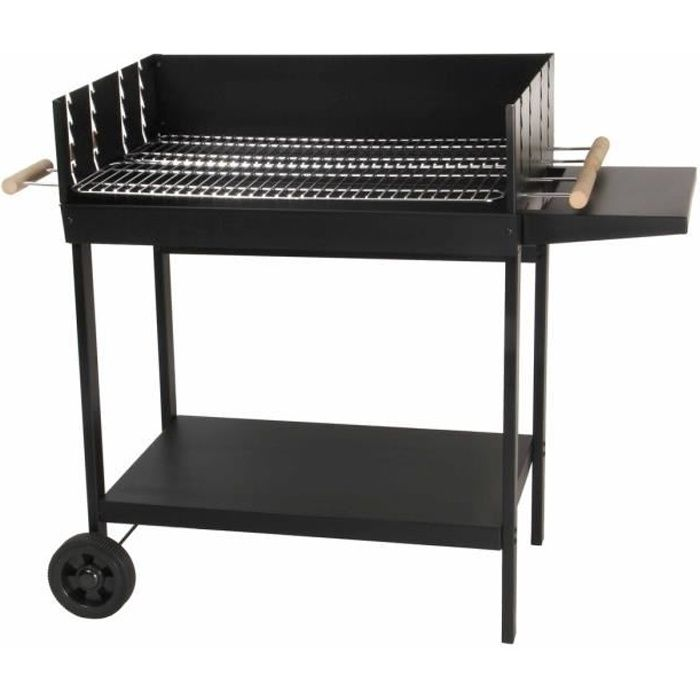 barbecue charbon de bois 2 grilles achat vente. Black Bedroom Furniture Sets. Home Design Ideas