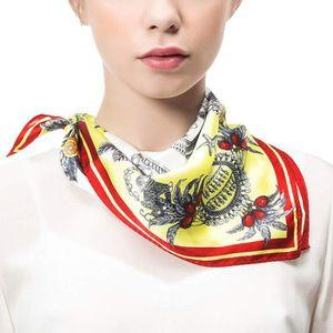 Fausse tête foulard élégant hôtesse de l/'Air Soft Wrap satin foulard carré soie