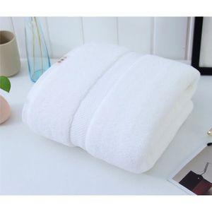 SERVIETTES DE BAIN Serviette de bain blanche unie pas cher absorbante