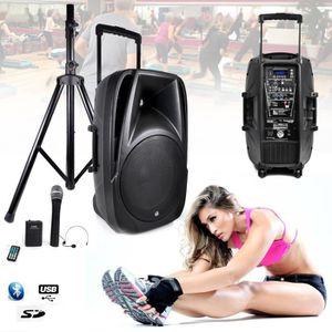PACK SONO Enceinte Gym, Fitness Batterie amplifié 700W TRANS
