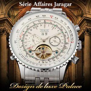 MONTRE JARAGAR Argent Montre-Bracelet Automatique Robe De