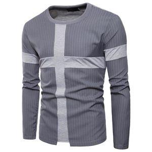 T-SHIRT Tee Shirt Homme Rayures Verticales T Shirt Manche