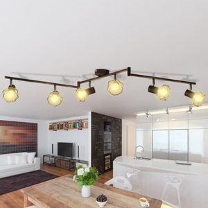 PLAFONNIER Spot de plafond vintage Noir cadre en métal laqué