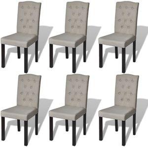 CHAISE Lot de 6 chaises de salle à manger salon gris