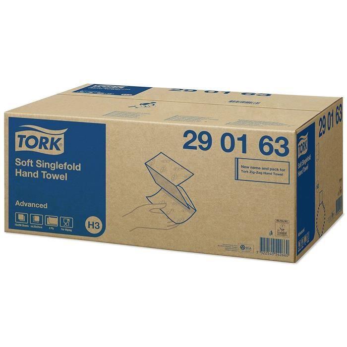 TORK - Lot de 15 paquets de 250 essuie-mains