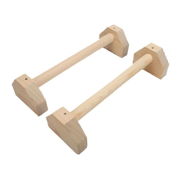 Push Up Poignées Parallettes en bois Push Up Bar Calisthenics Handstand Yoga SPORT_YS1365