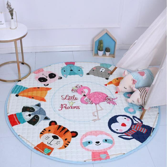 Tapis de Jeu pour Bébé Enfant coussin rond coton coussin épais bébé jeu mat matelas set bébé Tapis 150cm