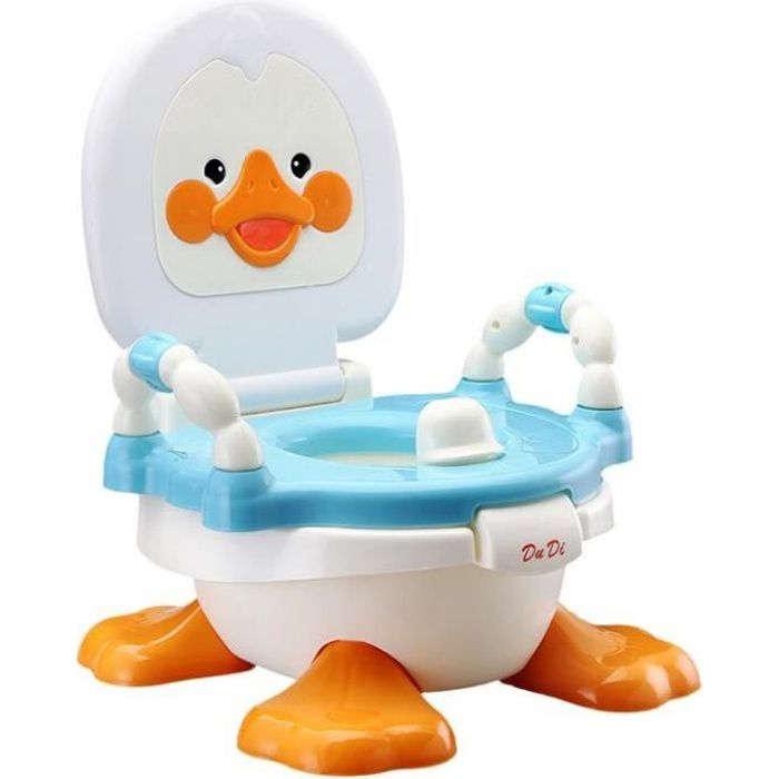 Siège-pot Abattant Toilette Siège de Toilettes Trainer Pot WC pour Chaise Bébé Enfants Bebe Mignonnes Canard Bleu