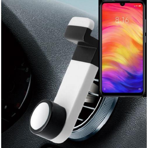 Support de téléphone pour grille de ventilation pour Xiaomi Redmi Note 7 Global, blanc - support de voiture - K-S-Trade® 163192