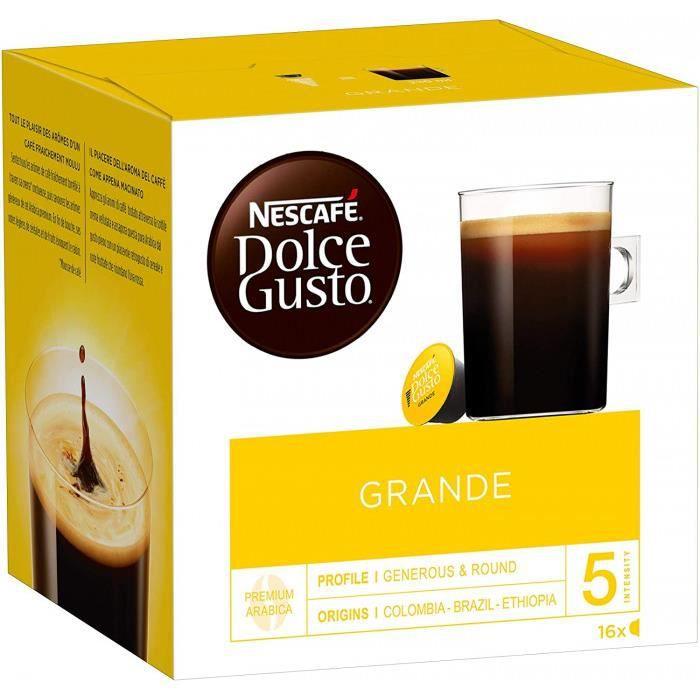 Nescafé Dolce Gusto Grande - Café - 48 Capsules (Lot De 3 Boîtes X 16)