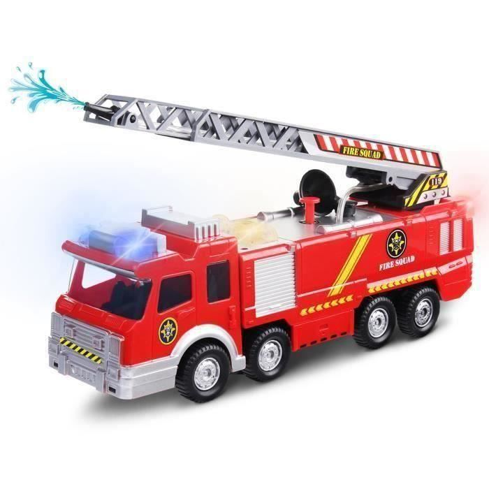 Camion de pompier électrique LED Jouet Avec Corne