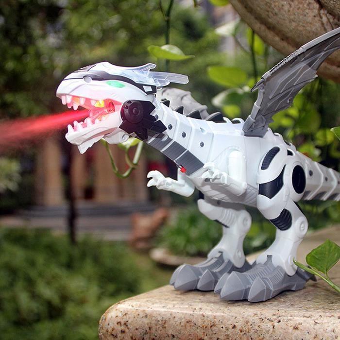 Grand dinosaure mécanique à réaction avec ailes, jouet pour enfants robot dinosaure modèle animal