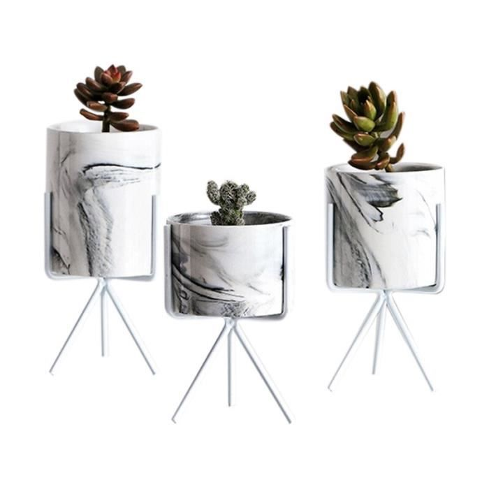 Minimalisme Nordique Style Marbre Motif Doré Céramique Fer À Repasser Art Vase Fleur De Table Pot Maison Mariage Décoration De S