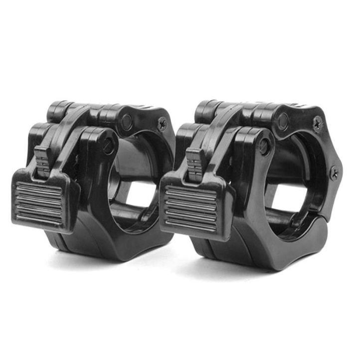 1 pièces 50mm Spinlock colliers Barbell collier serrure haltères Clips pince barre de levage de poids haltère de gymnastique Fitne