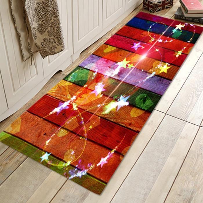 HURRISE tapis de sol antidérapant Tapis de sol absorbant antidérapant paillasson pour salon d'entrée à la maison Shinning Star