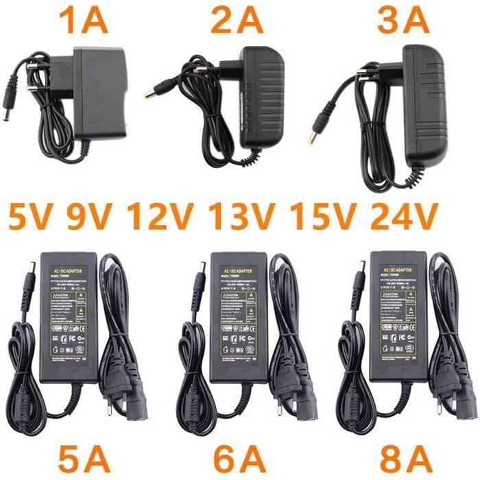 1A-5V-EU Plug -Alimentation électrique,transformateur 220V à 12V,cc 12V 5V 6V 8V 9V 10V 12V 13V 14V 15V 24V 1A 2A 3A 5A 6A 8A adap
