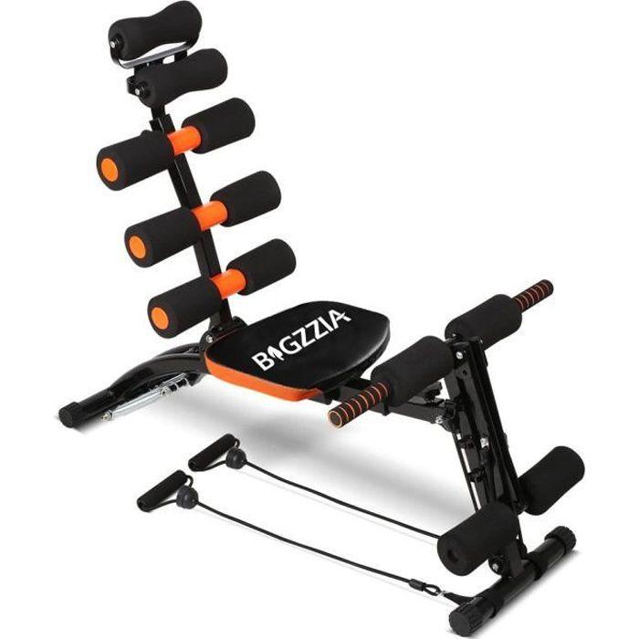 BIGZZIA Appareil à abdominaux AB celerate pour abdominaux, bras dos et épaules - Noir et orange