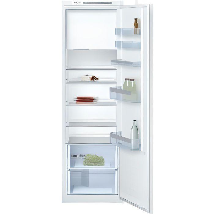 BOSCH KIL82VSF0 Réfrigérateur 1 porte intégrable - 286L (252+34) - SER4 - Classe énergie A++ - 177x56cm - Blanc