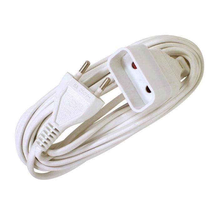 VOLTMAN Rallonge électrique - 6A - 3m - Blanc (Lot de 3)