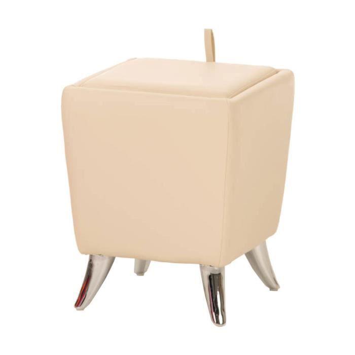 CLP Tabouret de design ROXY, assise très élégante avec coffre de rangement et coussins, hauteur de l'assise 45 cm, 12 couleurs au...
