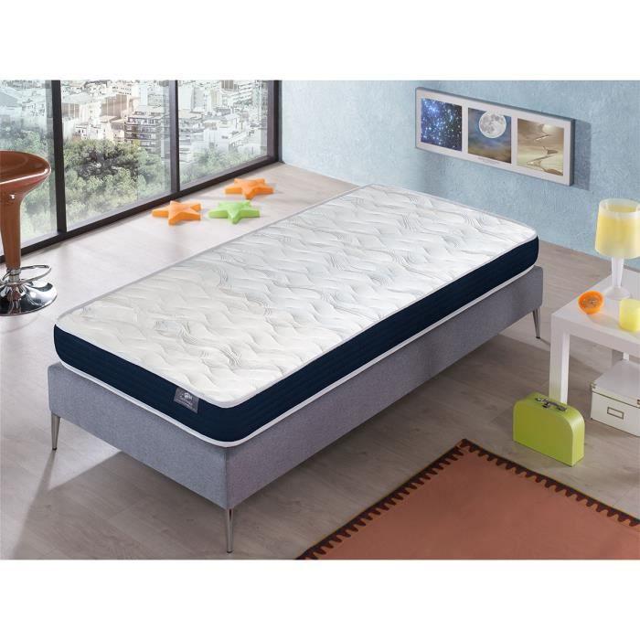 Matelas 100X200 ERGO CONFORT Épaisseur 14 CM – Rembourrage super soft - Juvénil - idéal pour les lits gigognes