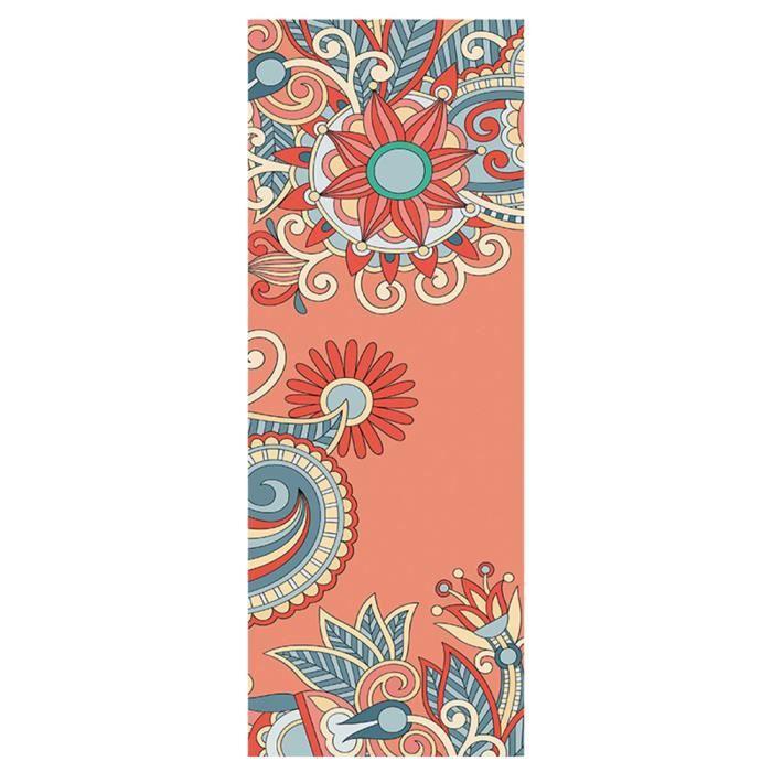 Tapis de yoga imprimé Qucik sec antidérapant pliable Yoga serviette Fitness couverture-47