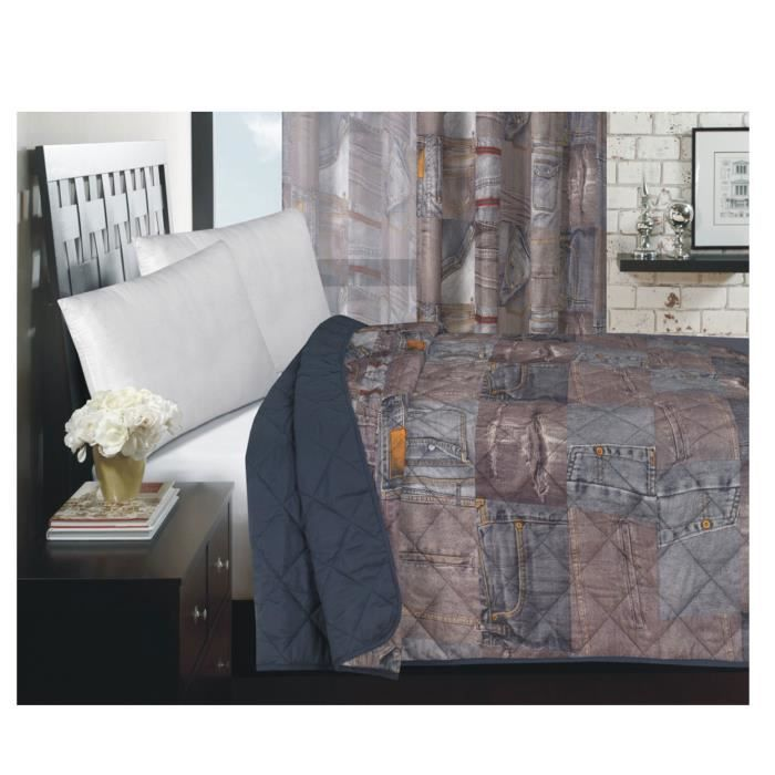 COUVRE-LIT JEANS  240 x 220 cm POLYESTER