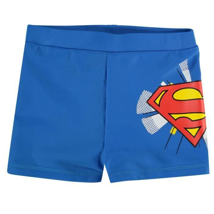 Character Superman Short De Bain Maillot De Bain Taille Élastique Garçon