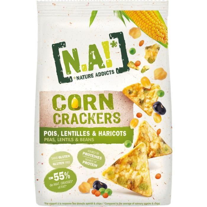 N.A Corn Crackers Sachet de Pois, lentilles et haricots BIO - 50 g