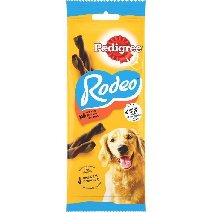 PEDIGREE Cravate rodeo récompenses au bœuf - Pour chien - 4x 70 g