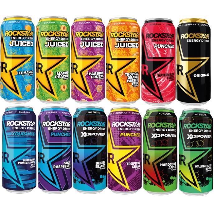 Rockstar Energy Drink SET Toutes les variétés 12 x 0,5l