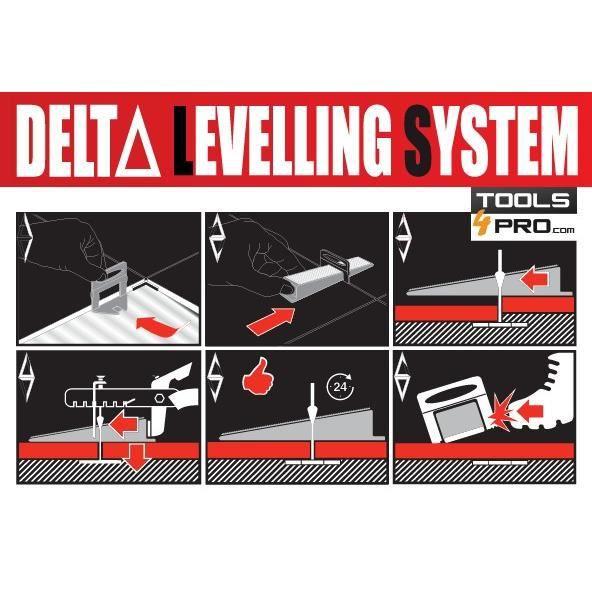 Bases RUBI Delta pour carreaux 11-20 mm d'épaisseur (1.5 mm - 100 un.)