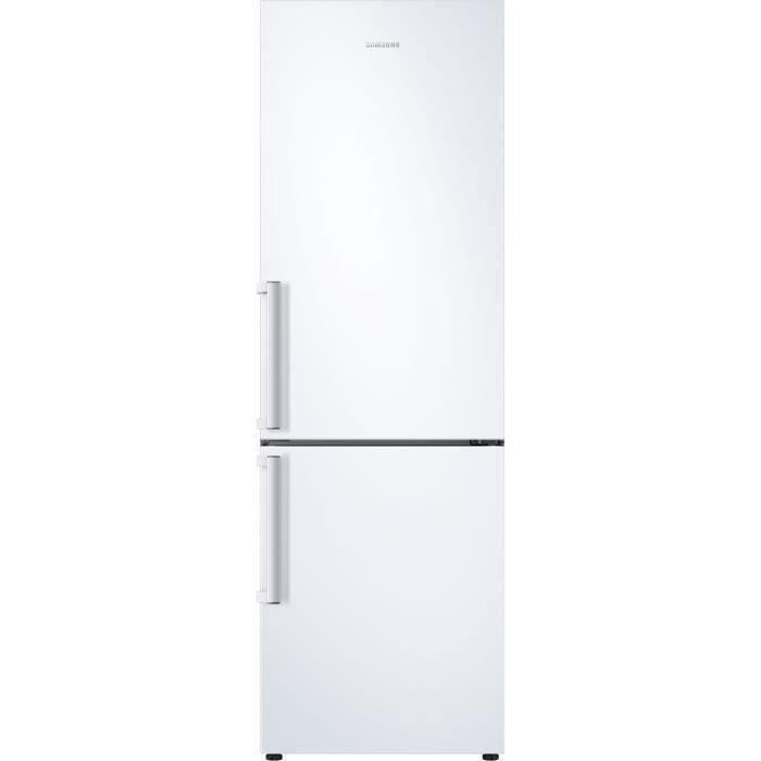 SAMSUNG RL34T620DWW - Réfrigérateur combiné - 340L (228L + 112L) - Froid Ventilé - L59,5cm x H185.3cm - Blanc - Pose Lib