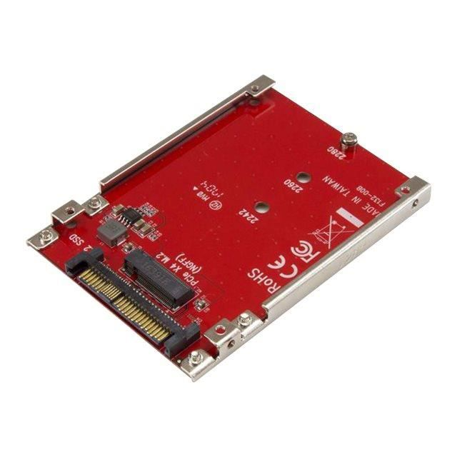 Startech.Com M.2 Drive to U.2 (Sff 8639) Host Adapter for M.2 Pcie Nvme Ssds Adaptateur d'interface M.2 M.2 Card U.2 rouge