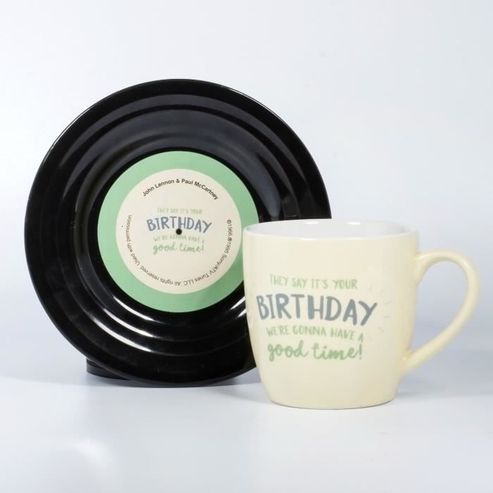 LYRICAL MUG L&M Pack Mug et Soucoupe - Birthday