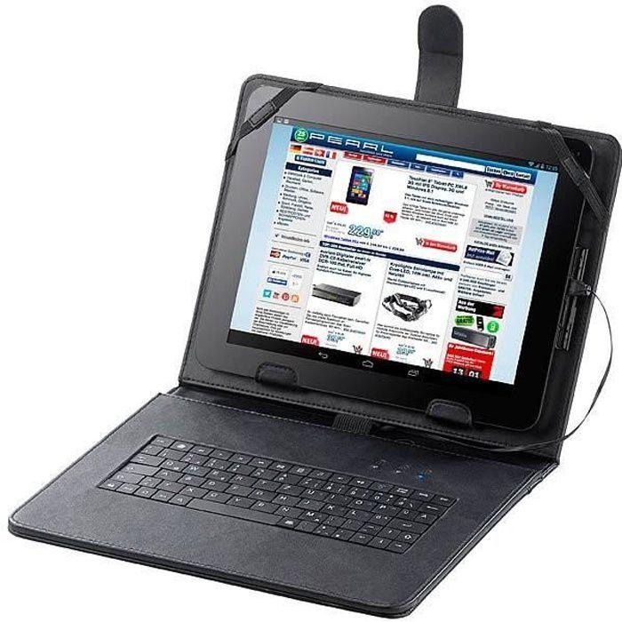 Étui pour tablette 9,7'' avec clavier filaire intégré